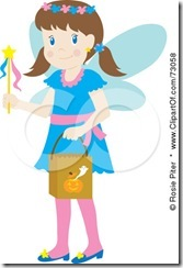 73058-Royalty-Free-RF-Clipart-Illustration-Of-A-Little-Girl-In-A-Blue-Fairy-Costume-Smiling-And-Trick-Or-Treating